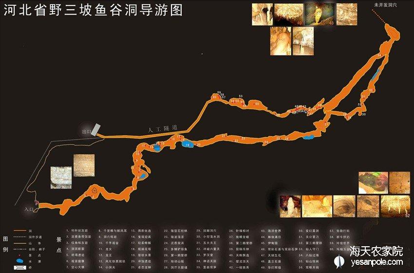 野三坡鱼谷洞地图